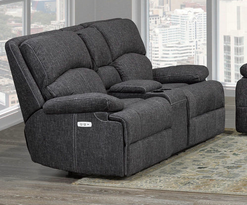 Houston Collection Fabric Reclining Loveseat in Grey