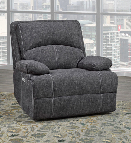 Houston Collection Fabric Recliner chair in Grey