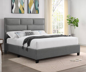 ANTONIA PLATFORM BED - GREY LINEN