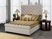 Load image into Gallery viewer, RALEIGH PLATFORM BED - BEIGE LINEN
