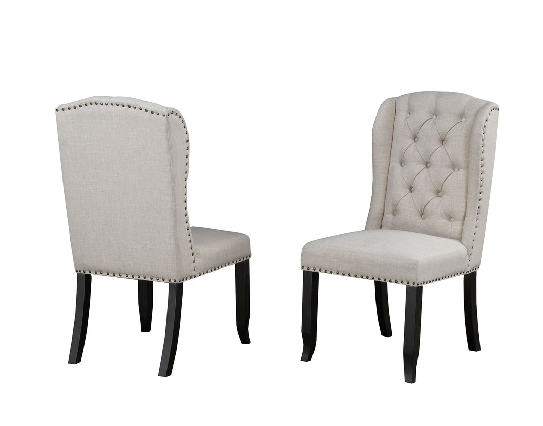 Memphis Tufted Dining Chair with Nail-Head Trim