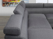 Load image into Gallery viewer, Aria Sectional with Adj. Arms & Back, Grey