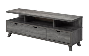 60' TV Stand with Storage, Grey