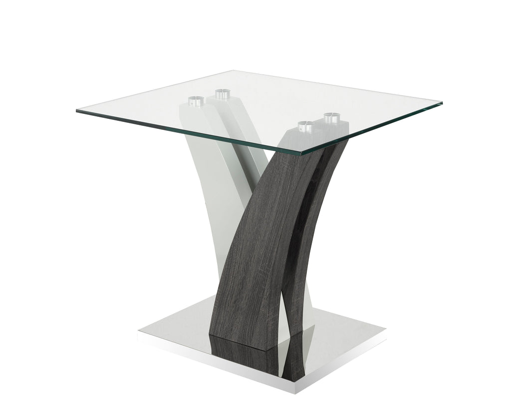 Jerome End Table, Grey/White