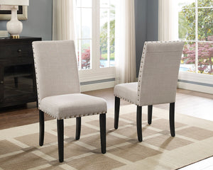 Avery Dining Chair with Nail-Head Trim (SET of 2) - Beige