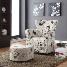 Load image into Gallery viewer, Club Chair with Ottoman, Marilyn Monroe Print