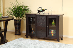 Venice Buffet / Server with Storage, Dark Cherry