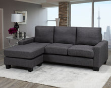 Load image into Gallery viewer, Hilton Sectional with Reversible Chaise, Grey