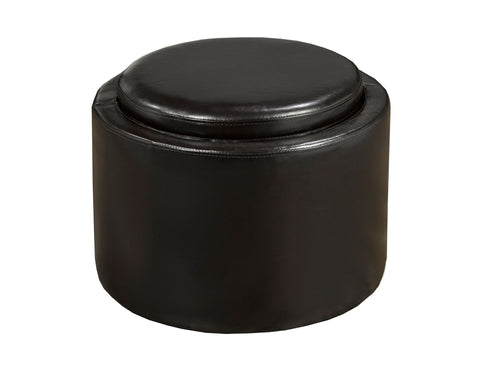 Storage Ottoman with Reverse Tray, Espresso