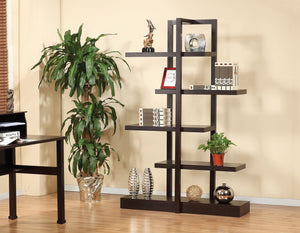 Multi-Tier Display Shelf, Dark Cherry
