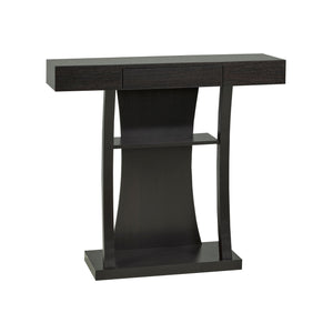 Console Table with Storage, Dark Cherry