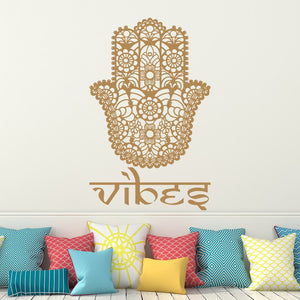Wall Decal Home Room Decor Vibes Hamsa Hand Decor Sticker Indian Buddha Fatima Vinyle