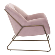 Load image into Gallery viewer, Stanza Arm Chair Pink Velvet