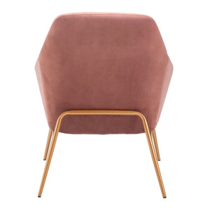 Debonair Arm Chair Pink Velvet