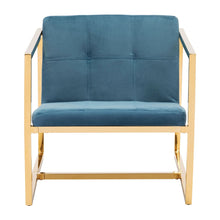 Load image into Gallery viewer, Goldfinger Alt Arm Chair Blue Velvet