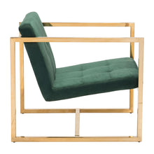 Load image into Gallery viewer, Goldfinger Alt Arm Chair Green Velvet