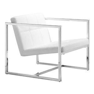 Goldfinger Chair White Chrome