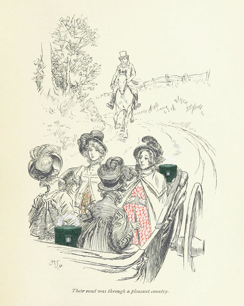 Illustration from Mansfield Park by Jane Austen