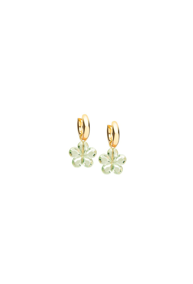 Caroline Earrings - Smoke Green