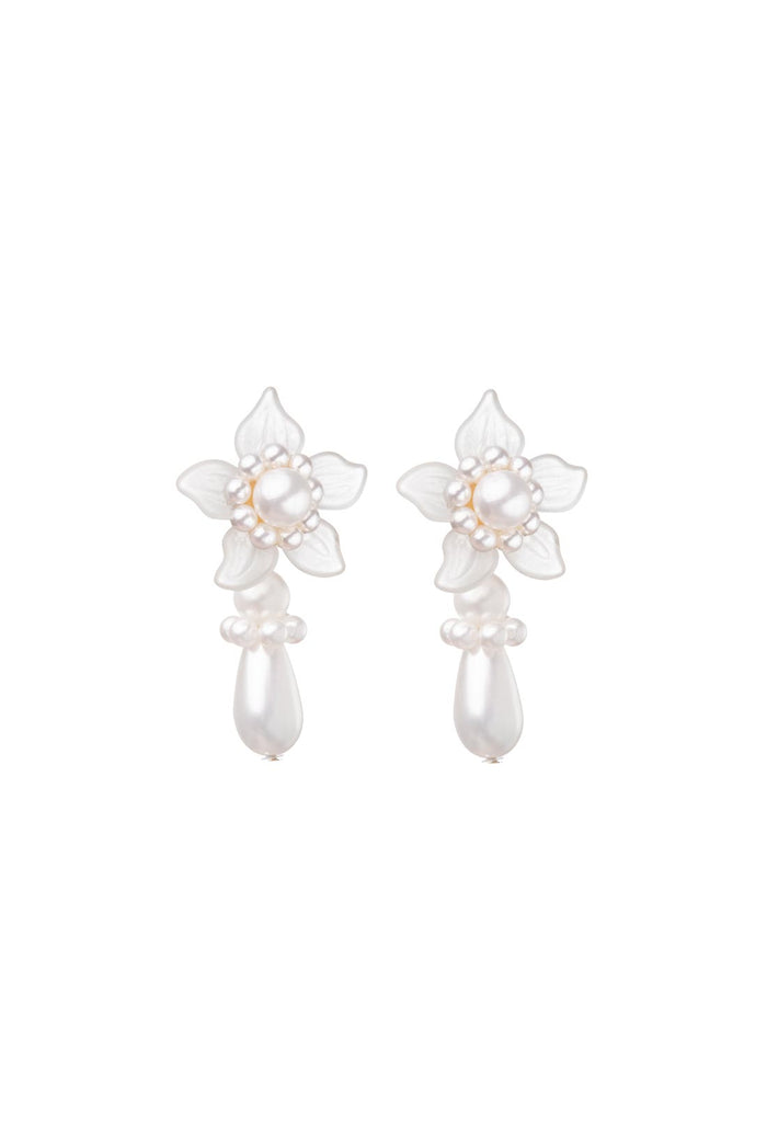 Mara Earrings - Cream