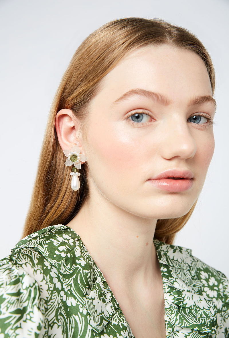 Mara Earrings - Green