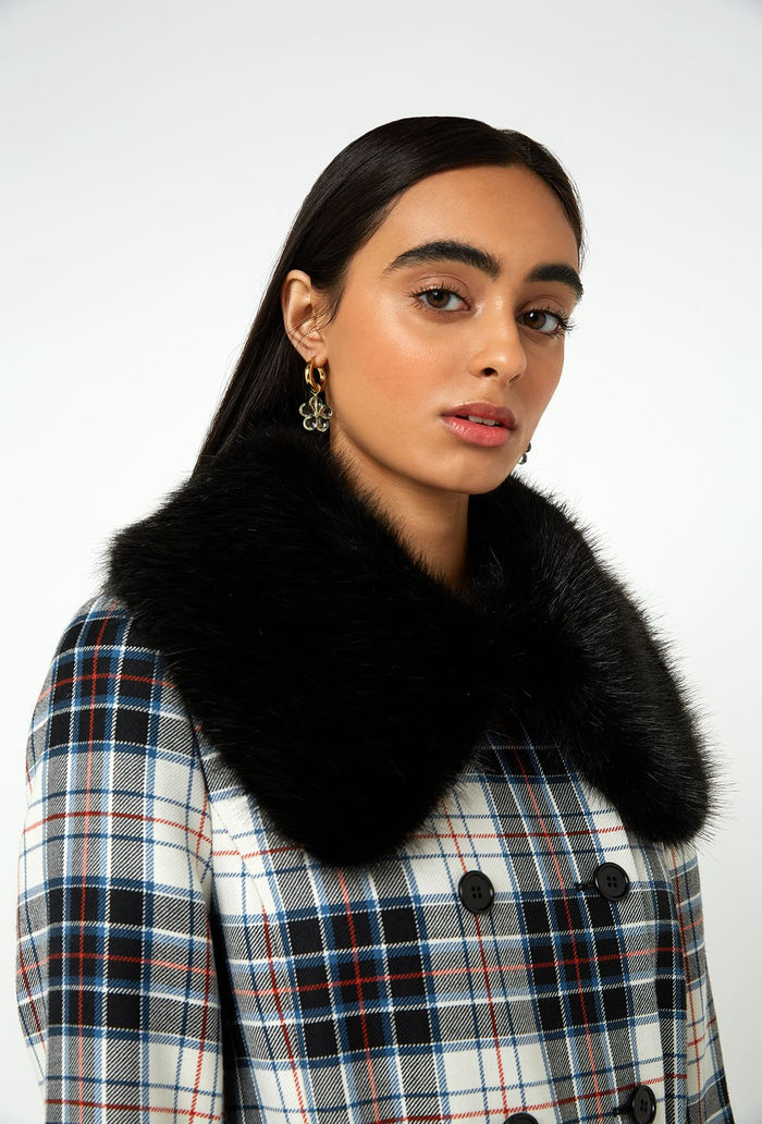 River Coat - Black Check