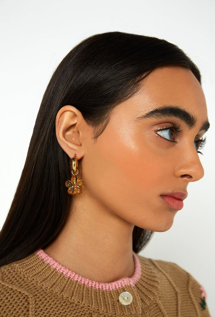 Caroline Earrings - Ochre