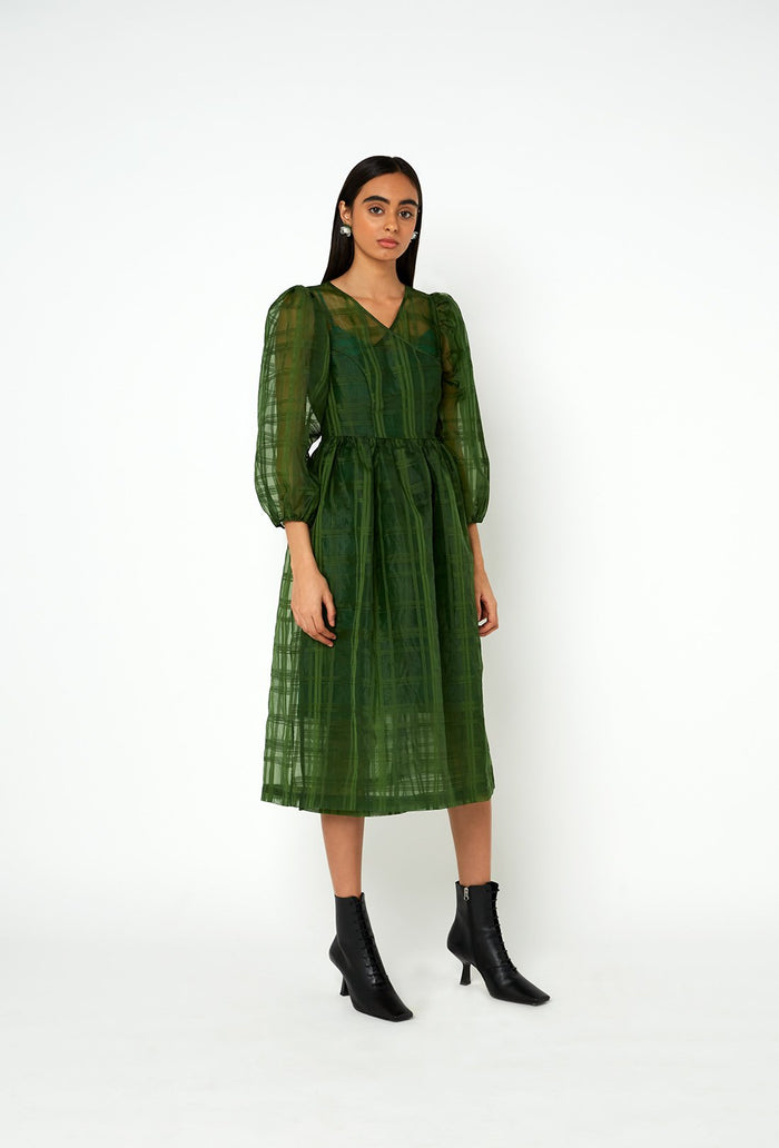 Titania Dress - Forest Green