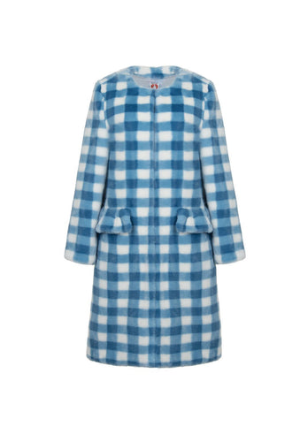 Aidan Coat - Blue, shrimps