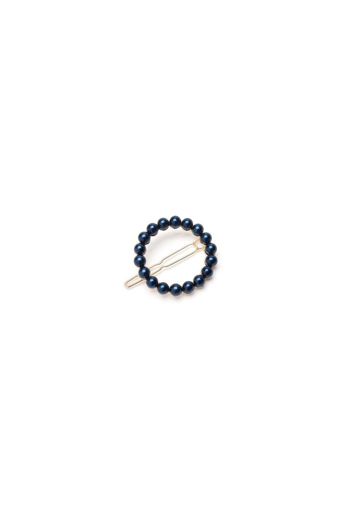 Albia Hair clip - Navy, shrimps