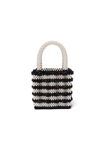 Antonia Bag - Black and Cream, shrimps