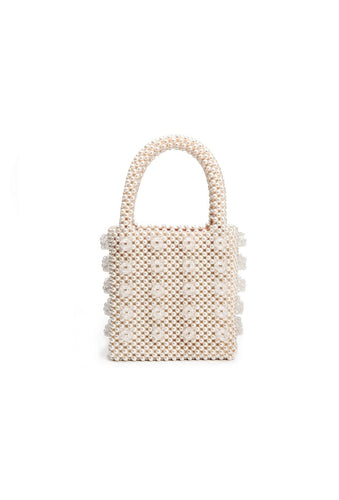 Antonia bag - Cream and Clear, shrimps