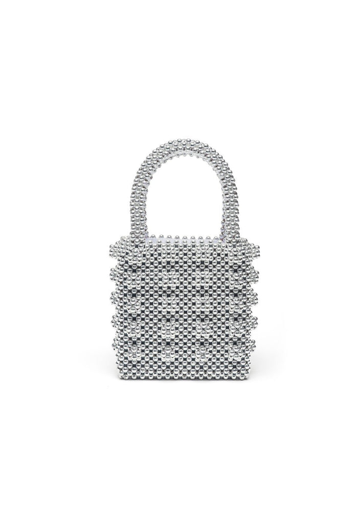 Antonia Bag - Silver, shrimps