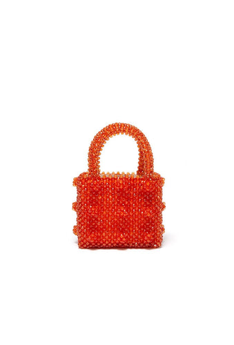 Antonia Mini Bag - Orange, shrimps
