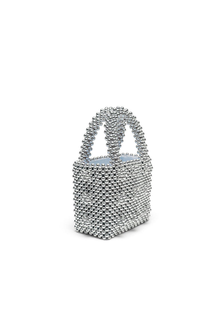 Antonia Mini Bag - Silver, shrimps