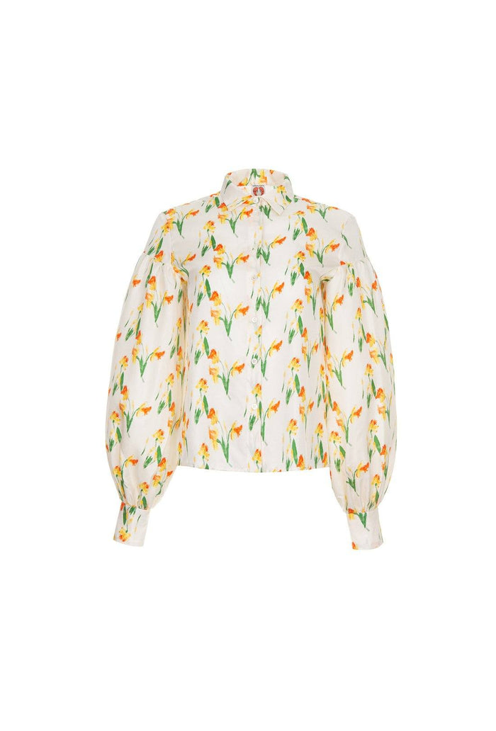 Bellatrix blouse - Daffodil, shrimps