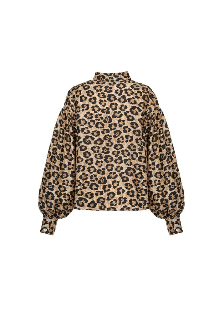 Bellatrix blouse - Leopard, shrimps