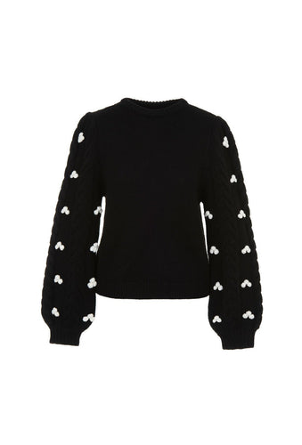 Damon jumper - Black, shrimps