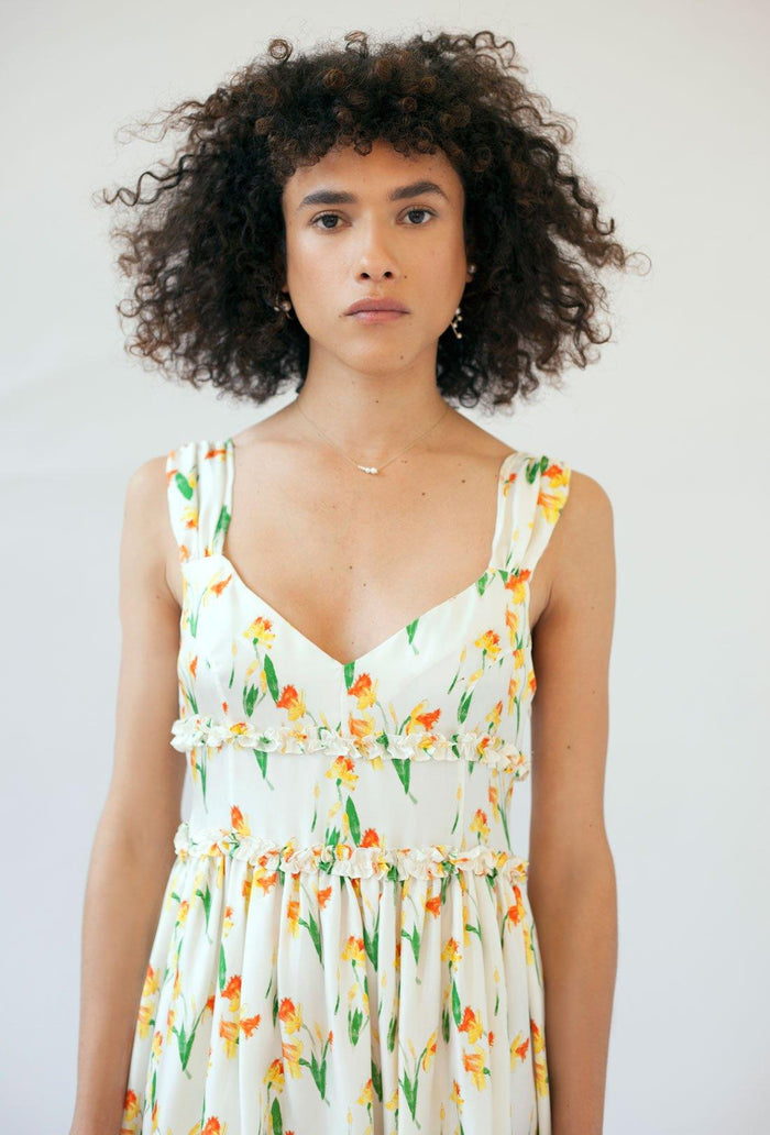 Elara dress - Daffodil, shrimps