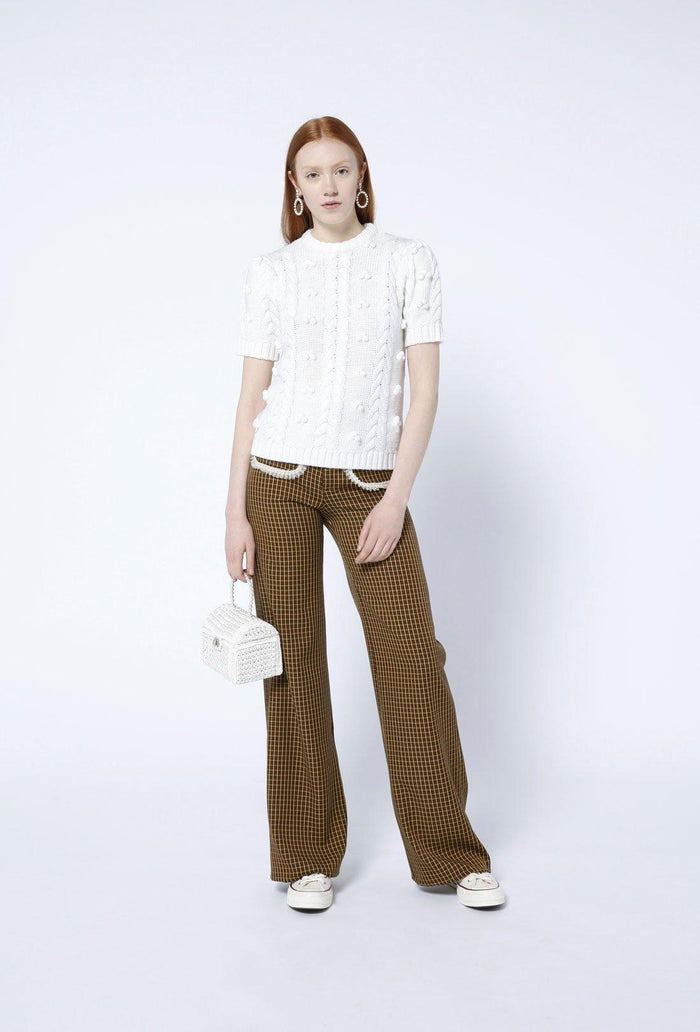 Elea jumper - Cream, shrimps