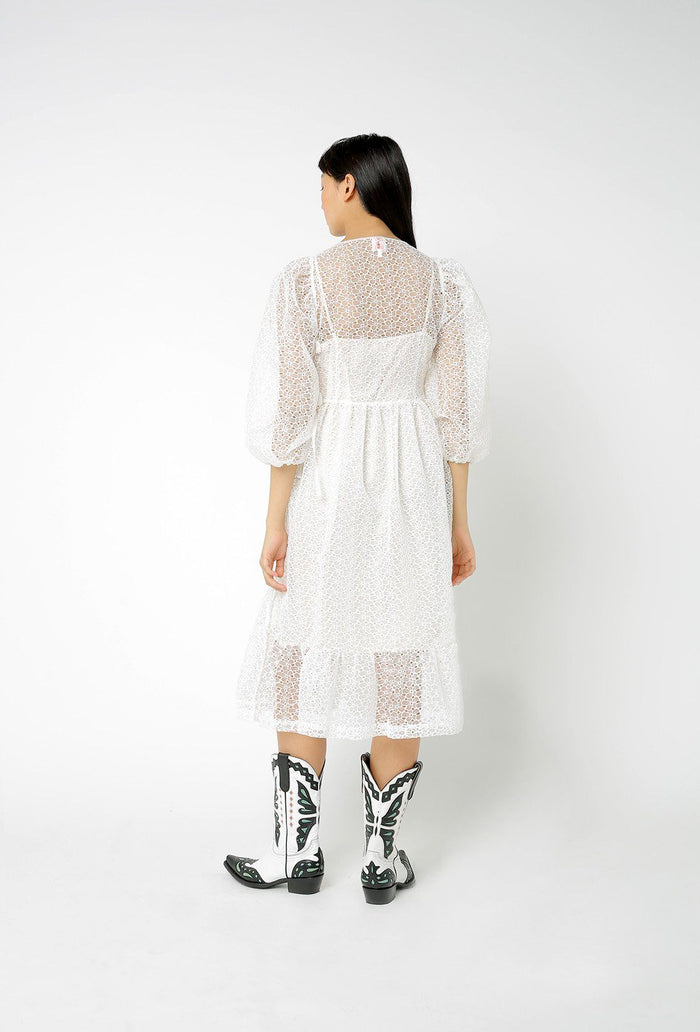 Georgia Dress - White