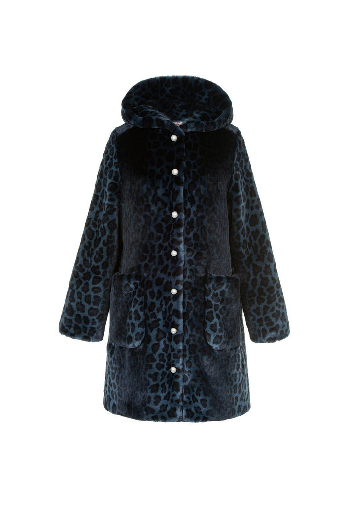 Gloria Coat - Navy, shrimps