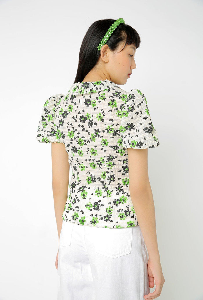 Levi Blouse - Cream and Green