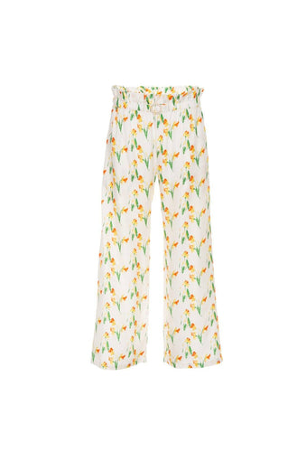 Libra trousers - Daffodil, shrimps
