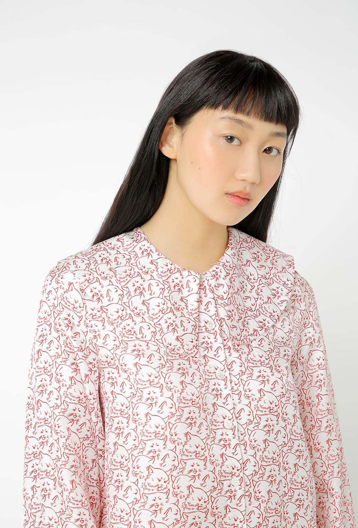 Mack Blouse - Cream and Red