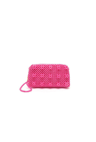 Molly purse - Fuchsia, shrimps