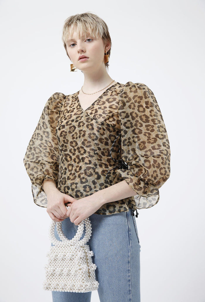 Nero blouse, shrimps