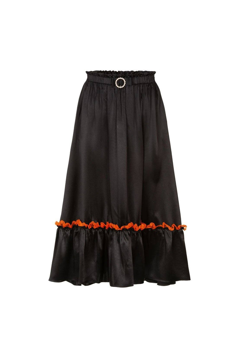 Pearl Skirt - Black and Orange