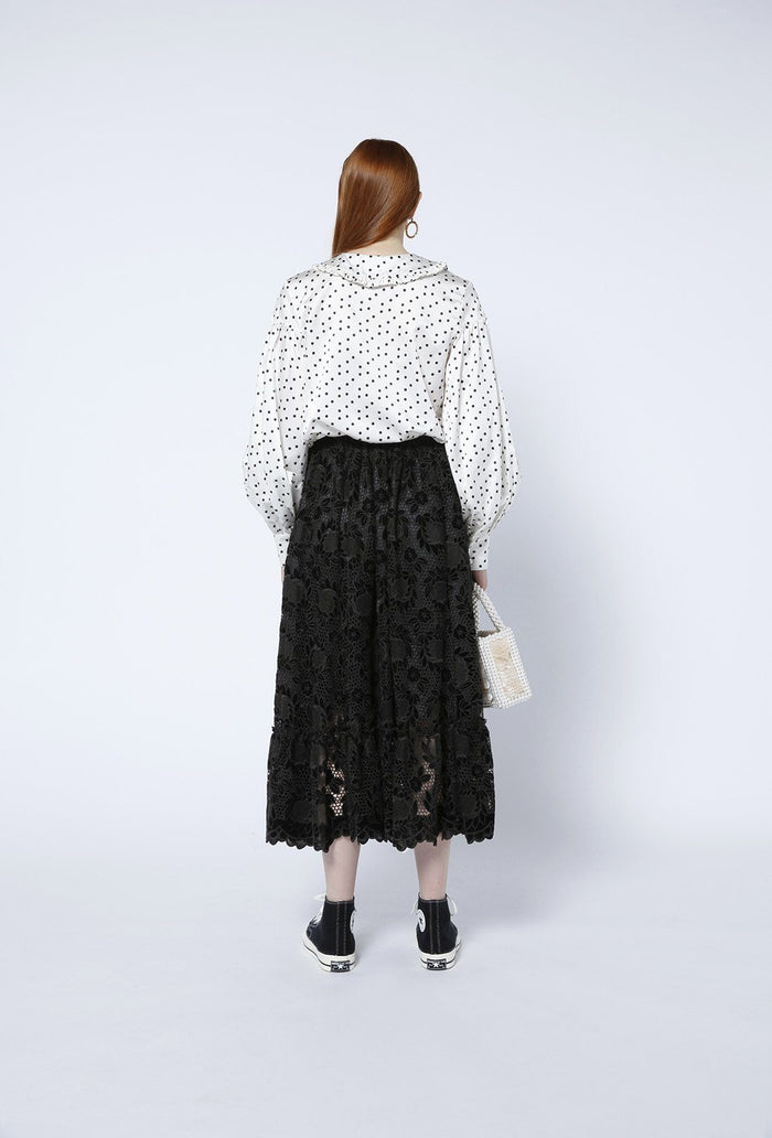 Pearl Skirt - Black, shrimps