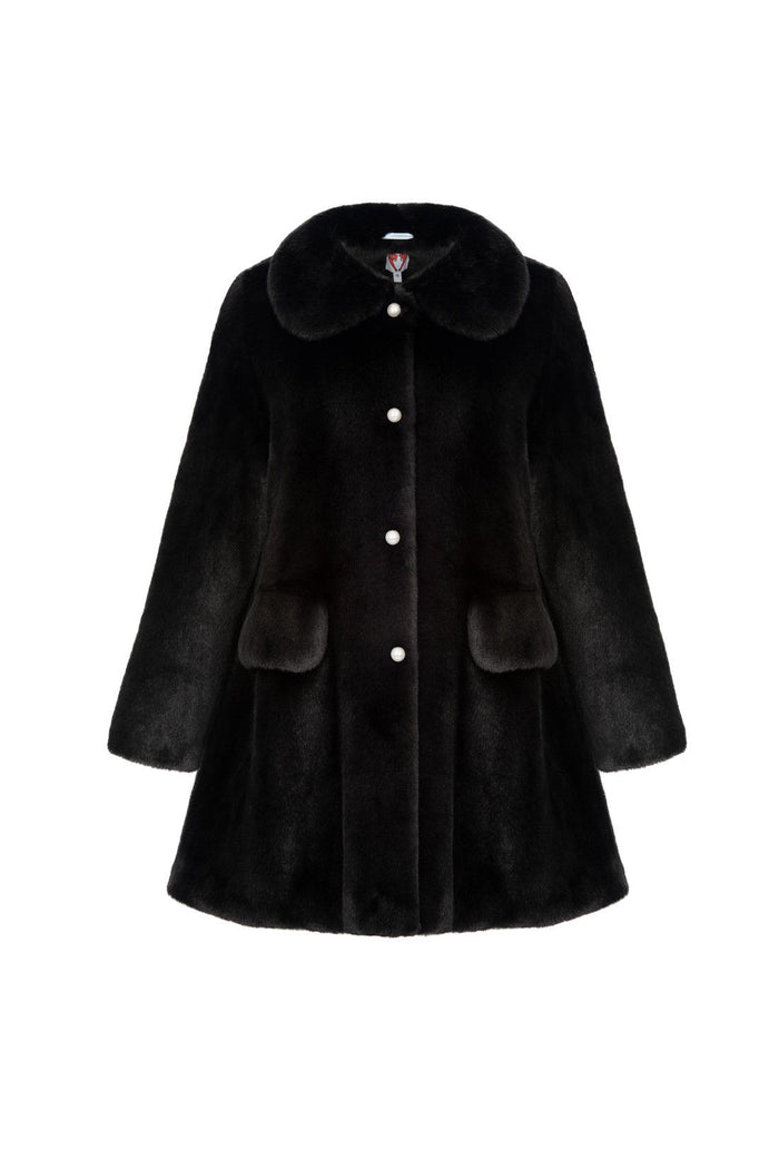 Pyrus coat - Black, shrimps